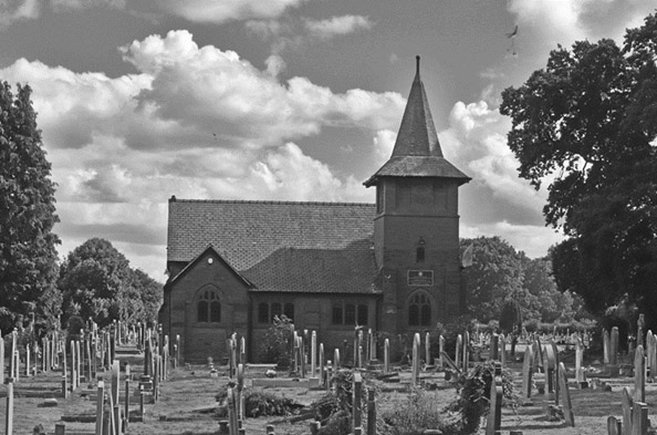 Photo of church in york black and white