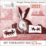 hare therapist with rorschach images and Wergle Flomp Promotional Text