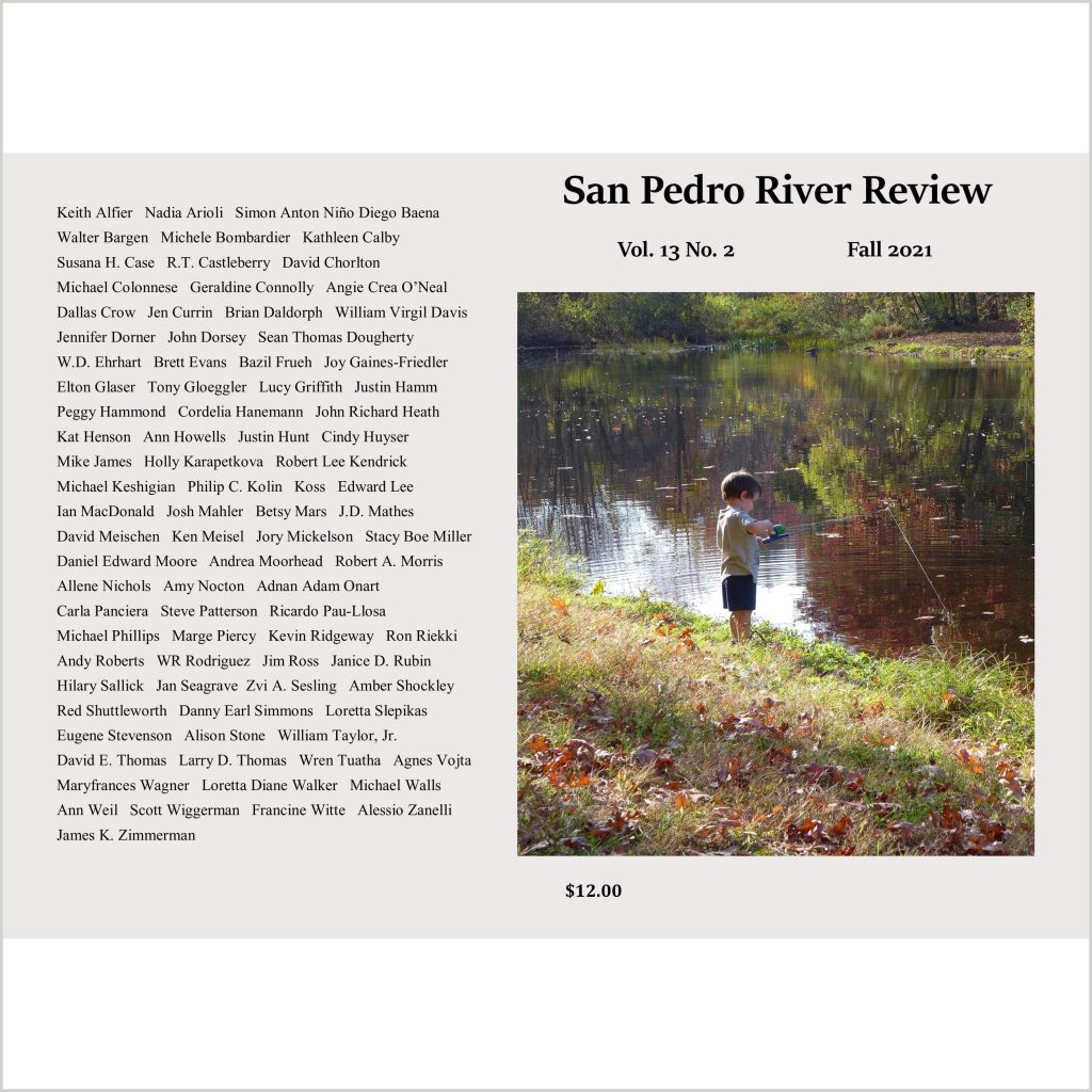 San Pedro River Review front and back cover with boy fishing and list of contributors