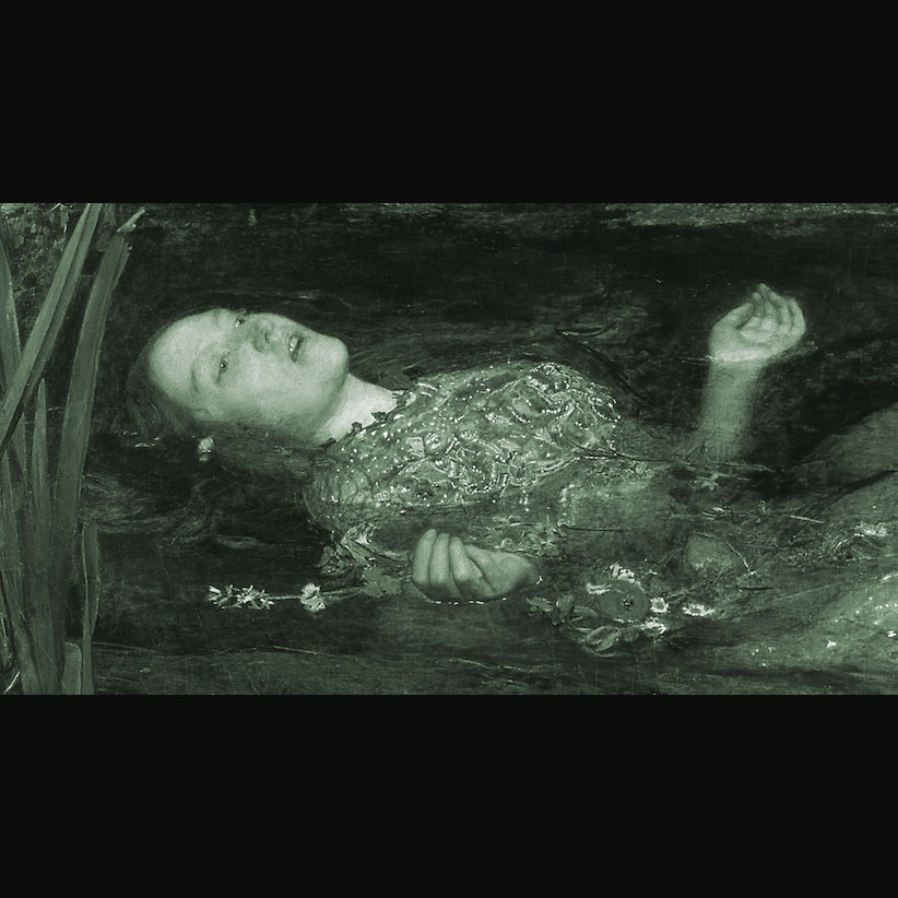 Millais Ophelia, Closeup, Muted, Painting