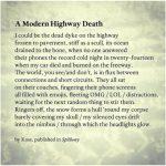 A Modern Highway Death, Poem in Spillway